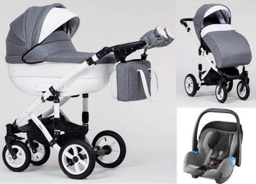 Wózek dziecięcy 3w1 głęboko spacerowy Euforia, Paradise Baby + fotelik z testami ADAC 0-13 kg