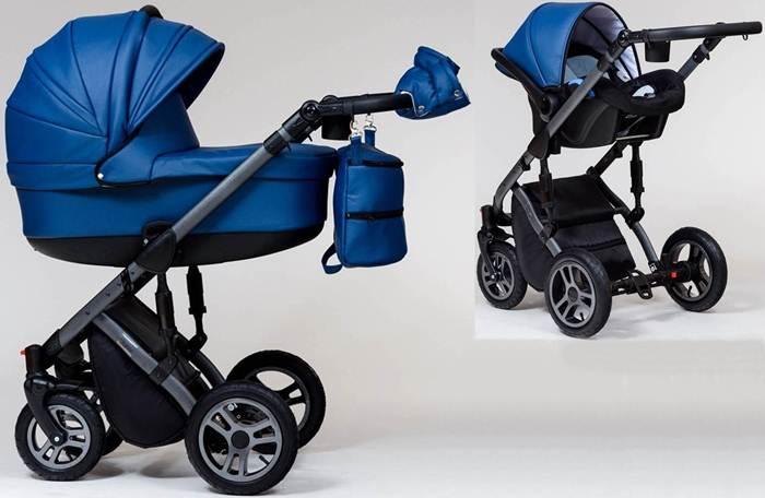 Wózek dziecięcy głęboki+ fotelik Carlo 0-10 kg Euforia, Paradise Baby