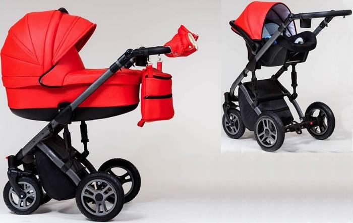 Wózek dziecięcy głęboki + fotelik Kite 0-13 kg Euforia, Paradise Baby