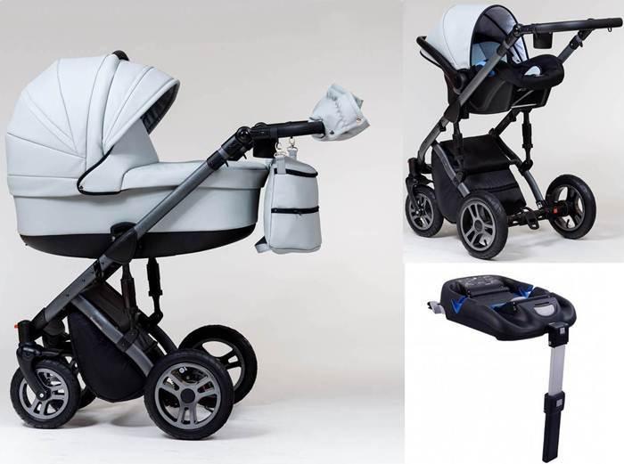 Wózek dziecięcy Euforia głęboki+ fotelik Kite 0-13 + baza isofix, Paradise Baby