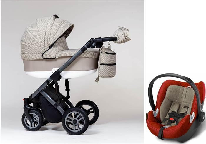 Wózek dziecięcy głęboki Euforia, Paradise Baby + fotelik z testami ADAC 0-13 kg