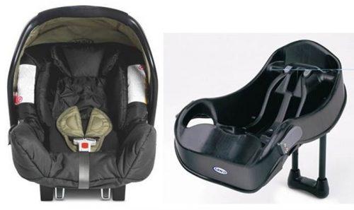 Fotelik samochodowy Graco Junior Baby 0-13 kg + baza do montażu za pomocą pasów