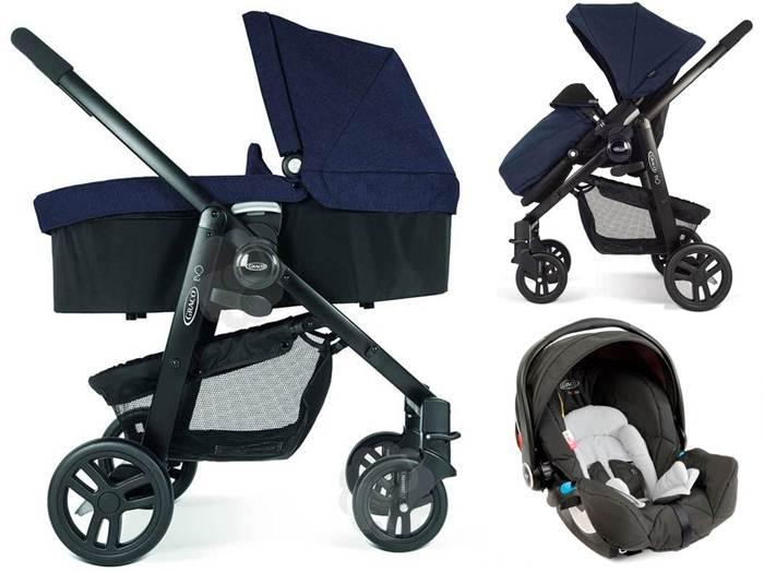3w1 Wózek głęboko spacerowy Evo Graco+ fotelik samochodowy 0-13 kg Logico S HP