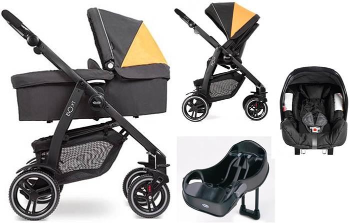 Wózek głęboko spacerowy 4w1 Graco Evo XT fotelik Junior Baby + baza do fotelika + adapter
