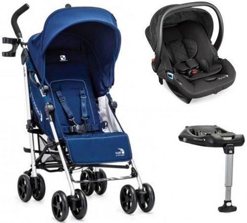 Wózek spacerowy do 25 kg z przekładanym siedziskiem + fotelik samochodowy City Go Baby Jogger + baza isofix