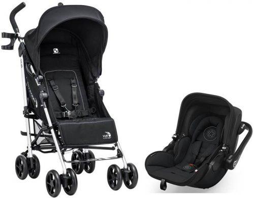 Wózek spacerowy parasolka do 25 kg + rewersowe siedzisko+ fotelik samochodowy z testami ADAC