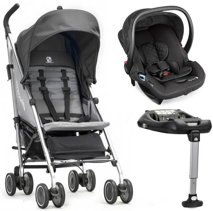 Baby Jogger Vue Lite wózek - parasolka do 25 kg z fotelikiem samochodowym 0-13 kg City Go i bazą Isofix