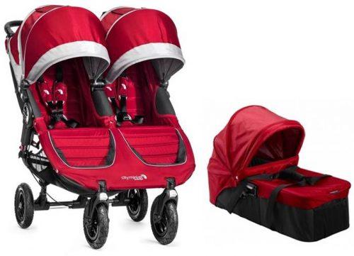 Wózek bliźniaczy dla rodzieństwa rok po roku 2w1 City Mini Duble GT + gondola Baby Jogger