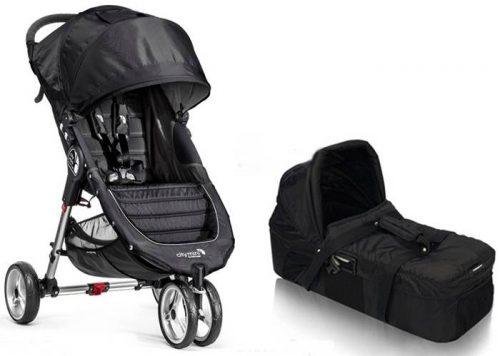 Wózek głęboko spacerowy City Mini 3 Baby Jogger + gondola kompaktowa+ adapter + pałąk i folia przeciwdeszczowa