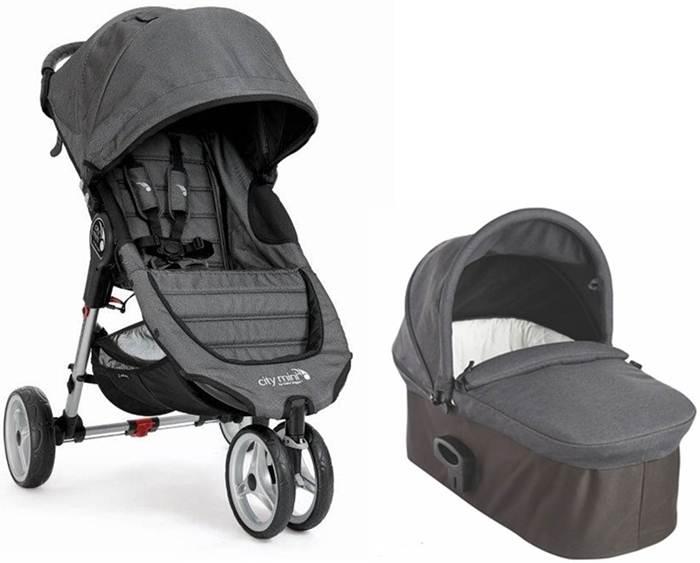 Wózek 2w1 City Mini 3 Baby Jogger + gondola Deluxe