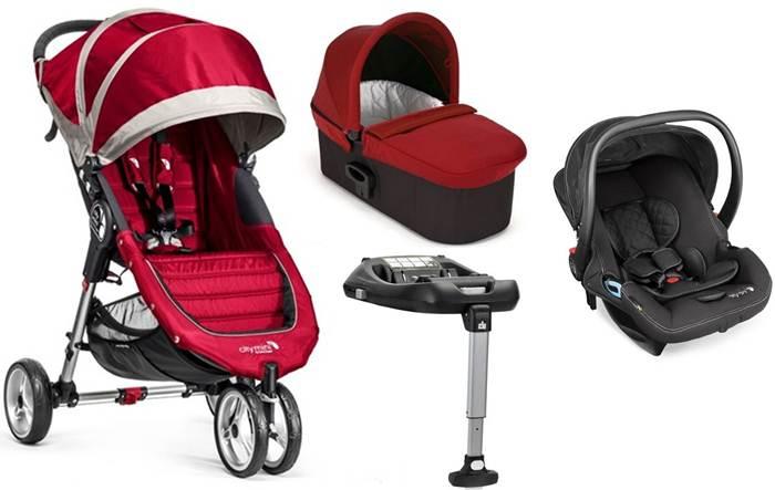 4w1 lekki wózek wielofunkcyjny City Mini 3 Baby Jogger + gondola Deluxe + fotelik 0-13 City Go + baza isofix