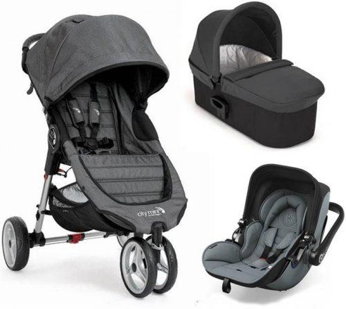 3w1 wózek głęboko spacerowy City Mini 3 Baby Jogger + gondola Deluxe+ fotelik 0-13 kg z testami ADAC