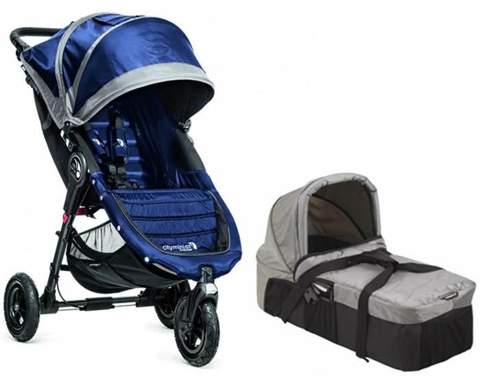 2w1 głęboko spacerowy City Mini GT + gondola kompaktowa + pałąk i folia przeciwdeszczowa Baby Jogger