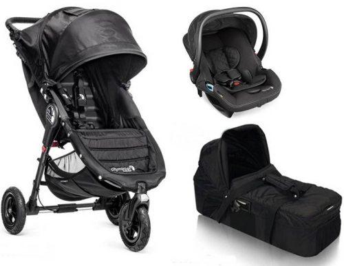 3w1 głęboko spacerowy City Mini GT + gondola kompaktowa + fotelik 0-13 City Go, Baby Jogger