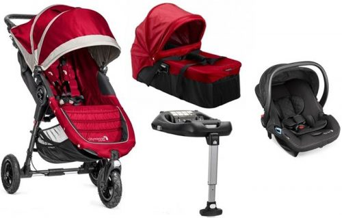 4w1 głęboko spacerowy City Mini GT + gondola kompaktowa + fotelik 0-13 City Go+ baza isofix, Baby Jogger