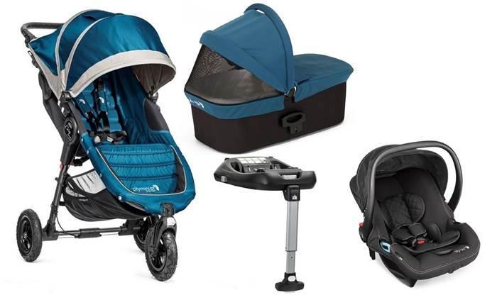 4w1 full opcja City Mini GT + gondola Deluxe + fotelik 0-13 City Go + baza isofix, Baby Jogger
