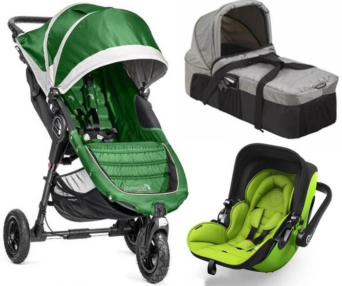 3w1 głęboko spacerowy City Mini GT + gondola kompaktowa + fotelik 0-13 z testami ADAC, Baby Jogger