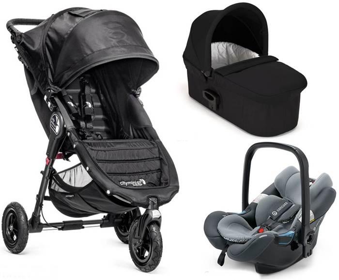 Wózek wielofunkcyjny City Mini GT + gondola Deluxe + bezpieczny fotelik z testami ADAC, Baby Jogger
