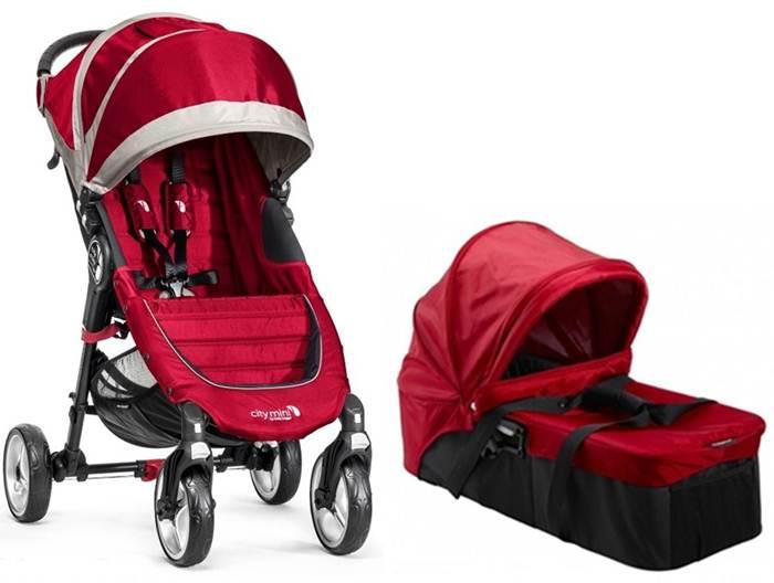 2w1 Lekki wózek City Mini 4 Baby Jogger + gondola kompaktowa + pałąk i folia przeciwdeszczowa