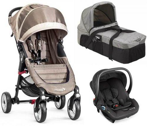 3w1 wózek spacerowy City Mini 4 Baby Jogger + gondola kompaktowa + fotelik City Go