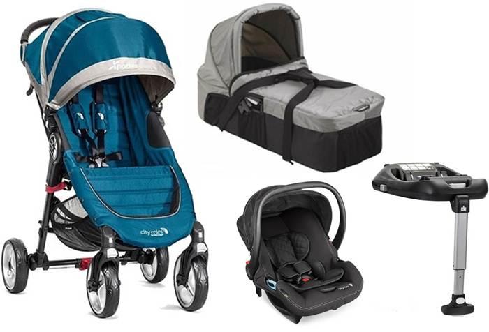 4w1 wózek spacerowy City Mini 4 Baby Jogger + gondola kompaktowa + fotelik z testami ADAC