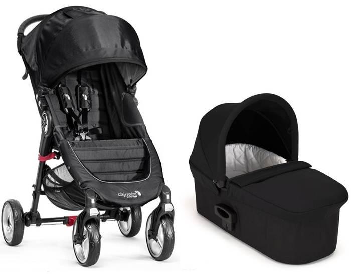2w1 Lekki wózek City Mini 4 Baby Jogger + gondola Deluxe + pałąk i folia przeciwdeszczowa