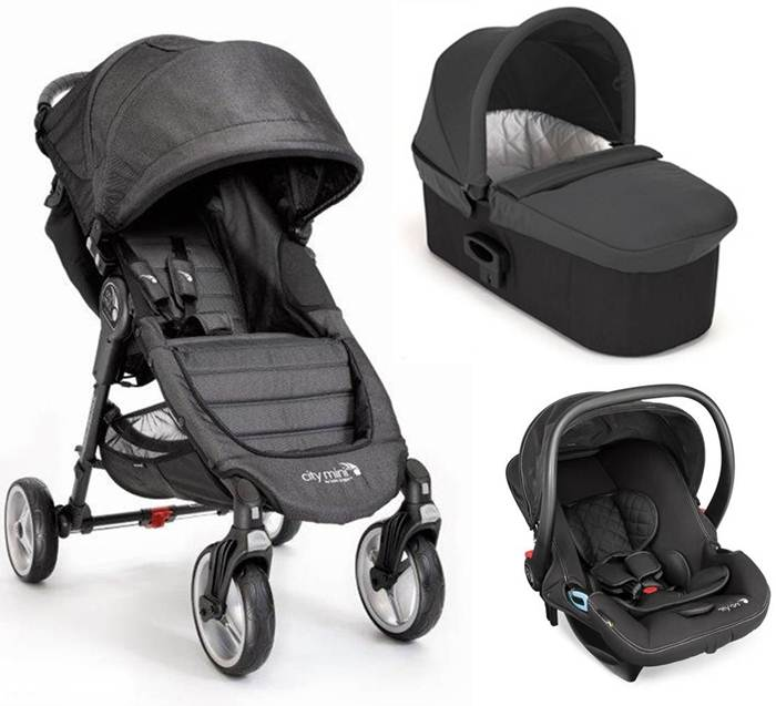 3w1 City Mini 4 Baby Jogger wóżek spacerowy+ gondola Deluxe + fotelik City Go