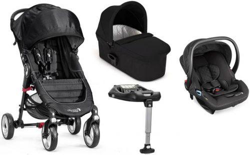 4w1 City Mini 4 Baby Jogger wózek spacerowy+ gondola Deluxe + fotelik City Go + baza isofix