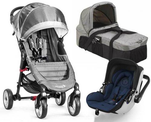 Wózek City Mini 4 Baby Jogger + gondola kompaktowa + bezpieczny fotelik z testami ADAC