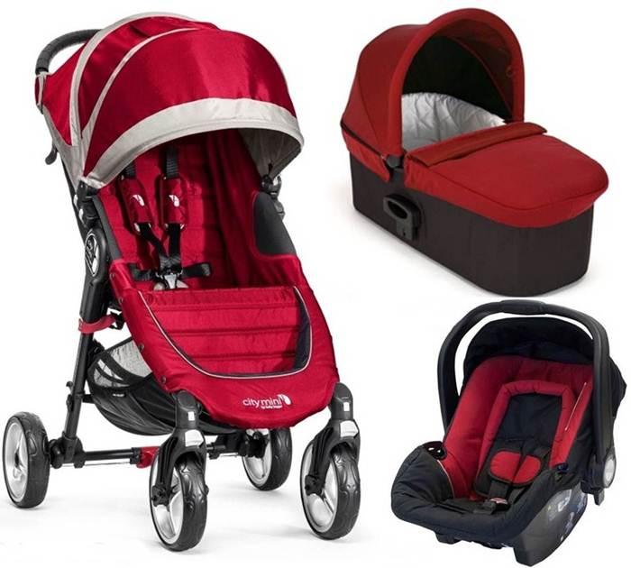 3w1 wózek głeboko spacerowy -City Mini 4 Baby Jogger + gondola Deluxe + fotelik z testami ADAC