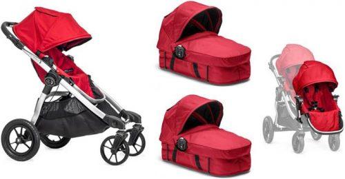 Głęboko spacerowy wózek City Select Baby Jogger+ 2 x gondola Basinet+ dodatkowe siedzisko