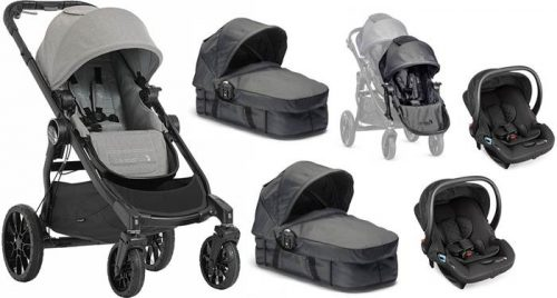 3w1 głęboko spacerowy wózek dla bliźniąt City Select Baby Jogger + foteliki samochowe City Go babyJogger