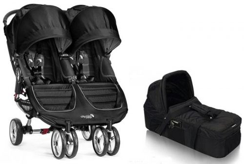 Spacerowy wózek podwójny City Mini Double Baby Jogger + gondola