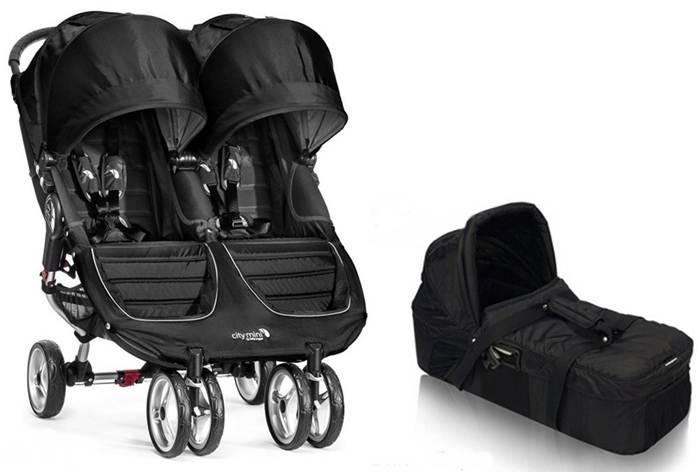 Spacerowy wózek podwójny City Mini Double Baby Jogger + gondola