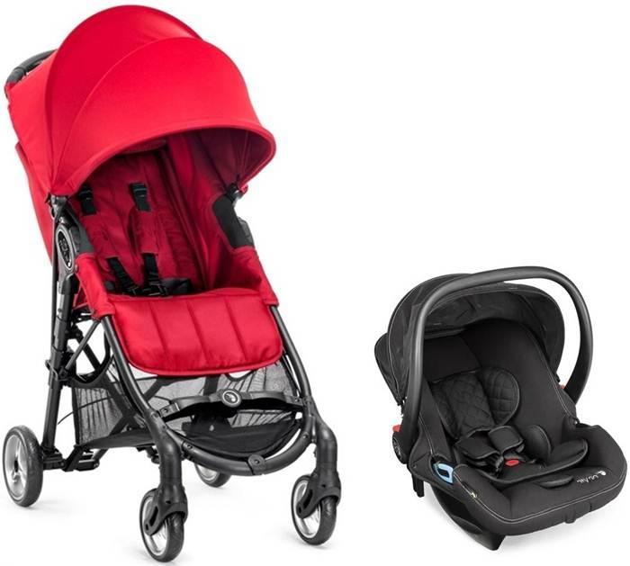 Wózek spacerowy City Mini Zip + fotelik samochodowy 0-13 kg City Go