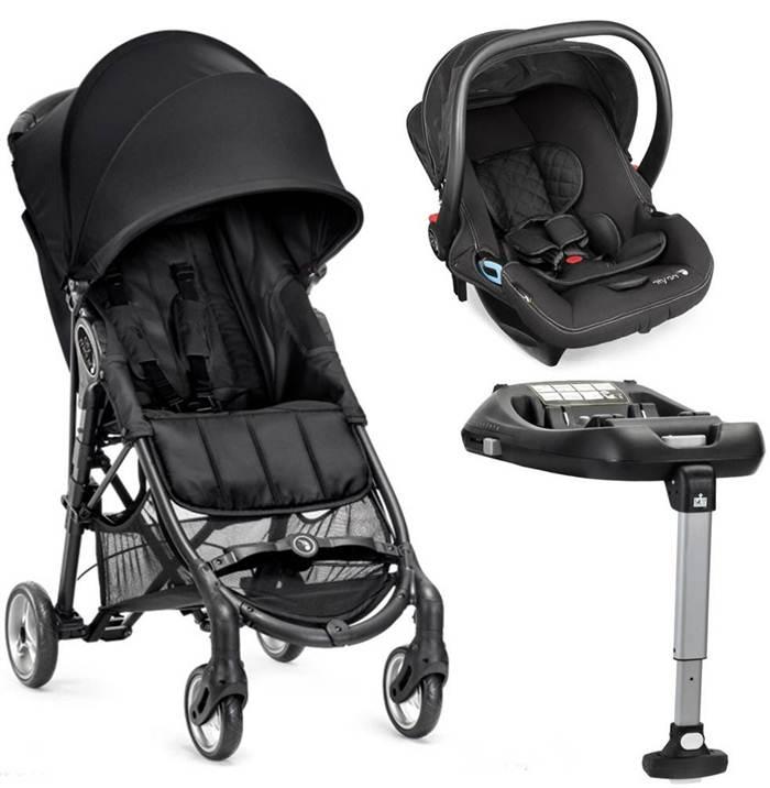 Wózek spacerowy City Mini Zip + fotelik samochodowy 0-13 kg City Go + baza na isofix