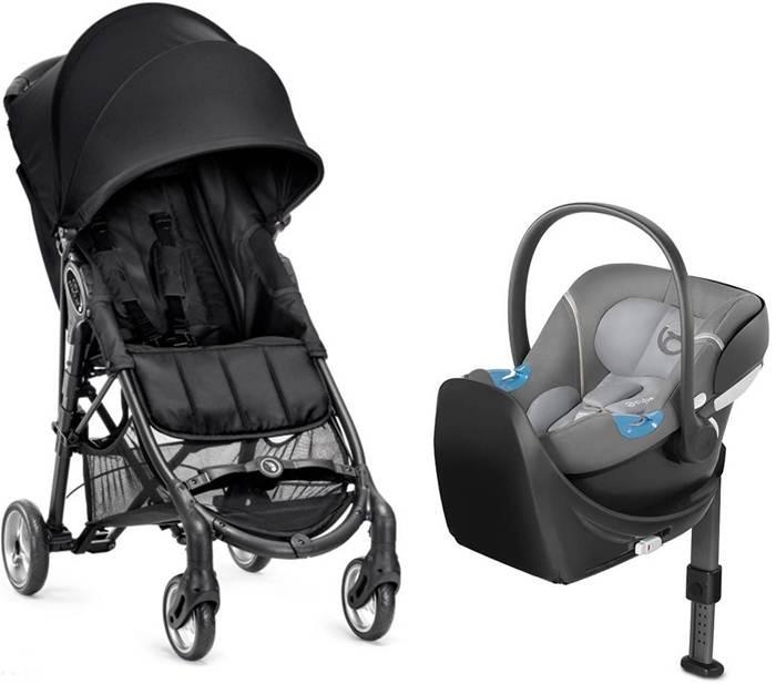 Wózek spacerowy City Mini Zip + fotelik samochodowy 0-13 kg z testami ADAC + baza Isofix lub na pas