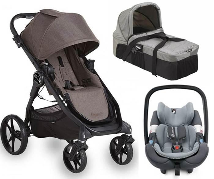 Wózek spacerowy City Premier + gondola kompaktowa + fotelik z testami ADAC