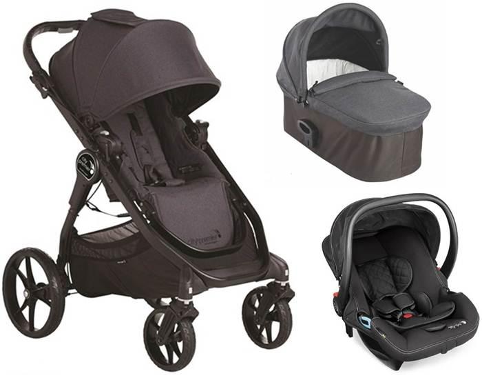 3w1 wózek głęboko spacerowy City Premier + gondola Deluxe+ fotelik 0-13 kg City Go Baby Jogger