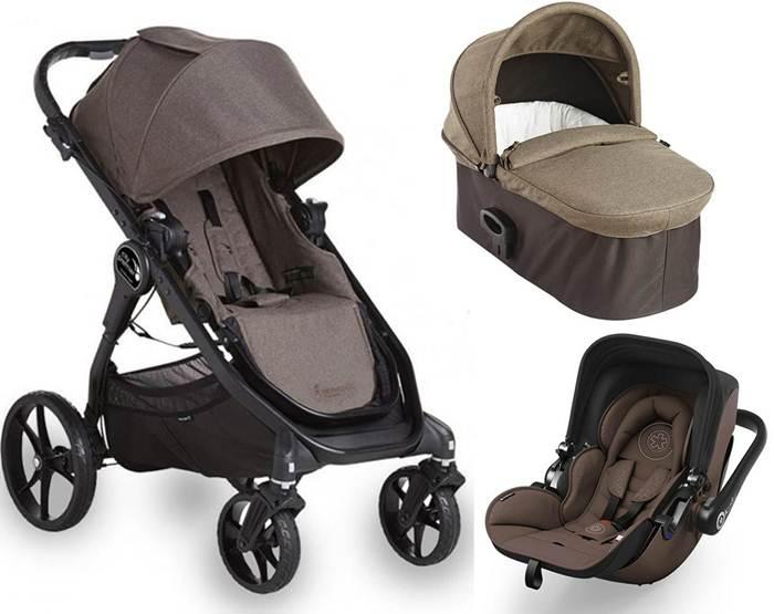 3w1 wózek wielofunkcyjny City Premier + gondola Deluxe+ fotelik 0-13 kg z testami ADAC Baby Jogger