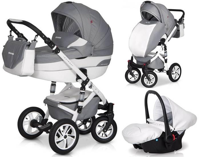 Głęboko spacerowy wózek dziecięcy 3w1 Durango firmy Euro-Cart z fotelikiem Durango 0-13 kg Kite