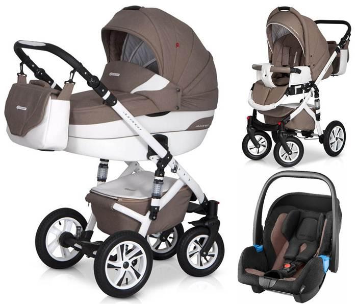 Głęboko spacerowy wózek dziecięcy 3w1 Durango firmy Euro-Cart z bezpiecznym fotelikiem samochodowym 0-13 kg