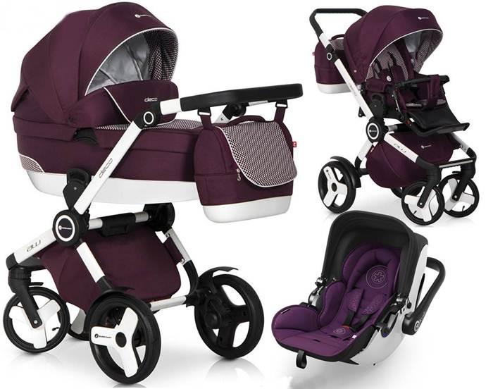 3w1 Wózek głęboko spacerowy Deco firmy Euro Cart + Fotelik samochodowy z testami ADAC Maxi Cosi, Concord, Recaro, Cybex, Kiddy