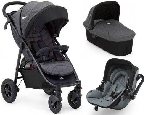 3w1 wózek dziecięcy Joie Litetrax 4 Air z kołami pompowanymi + gondola + fotelik 0-13 kg