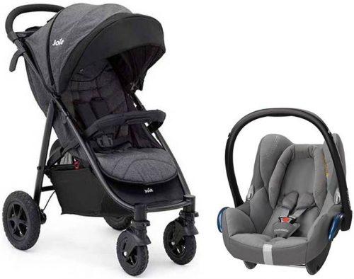 Wózek dziecięcy Joie Litetrax 4 Air z kołami pompowanymi + bezpieczny fotelik samochodowy