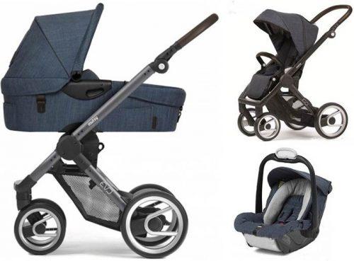 Wózek głęboko spacerowy Evo Mutsy + fotelik samochodowy Safe2Go 0-13  kg= stelaż + siedzisko spacerówki + gondola