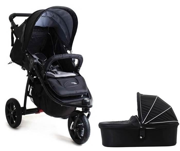 2w1 Trójkołowy wózek głęboko spacerowy na pompowanych kołach Tri Mode X Valco Baby