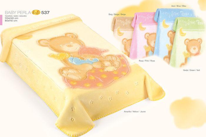 Duży kocyk Akrylowy dla dzieci 140x110 Gold Baby Perla 537