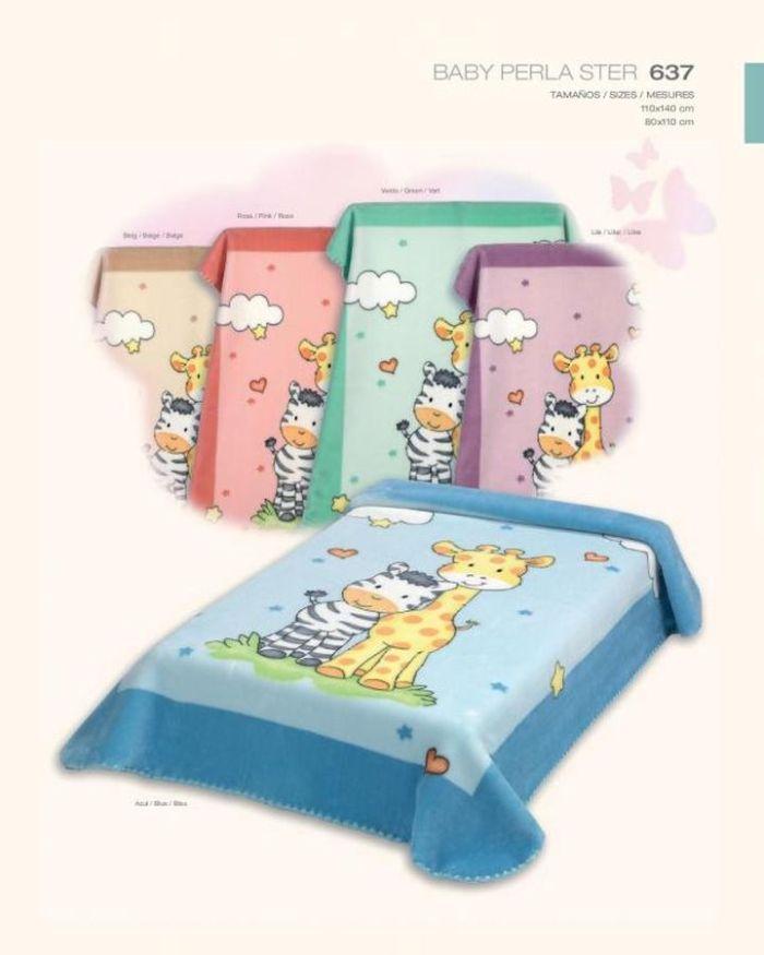 Baby Perla Koc Akrylowy 110x140 Cm Ster 637