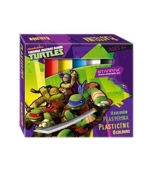 Plastelina 6 kolorów Ninja Turtles